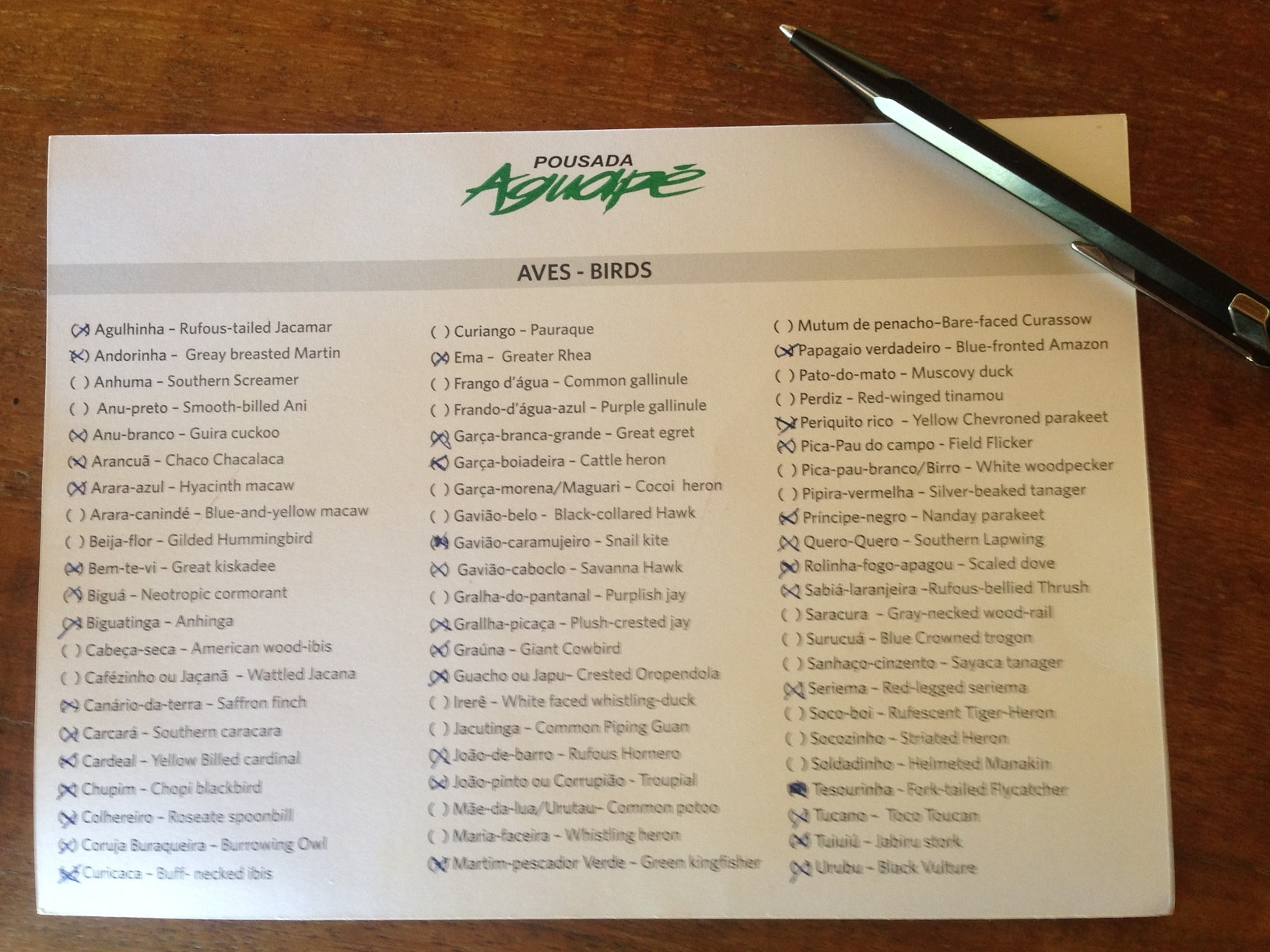 pantanal_bresil_pousada_aguape_checklist_oiseaux