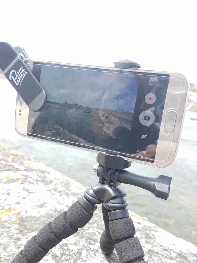 Utilisation du trépied Pixter et de l'objectif smartphone grand angle
