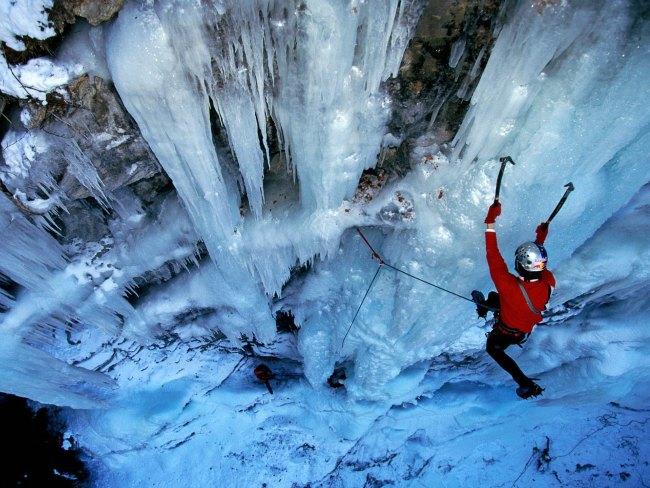 Activité insolite station de ski - Cascade de glace