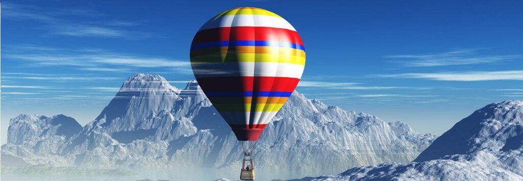 Vol en Montgolfière au dessus des montagnes - Activité insolite en station de ski